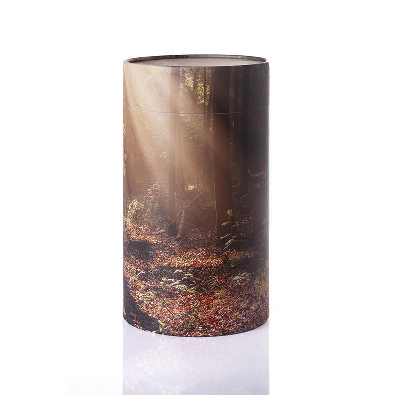 Stockholm urne med skov-motiv