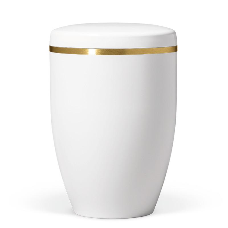Atlant biourne, Hvid gloss, med guldkant 27801