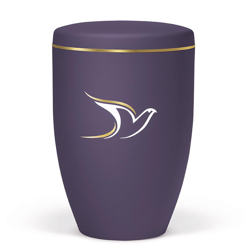 Atlant biourne, lillla velour, med due og guldkant 27135