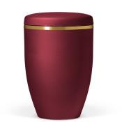 Atlant biourne, vinrød velour, med guldkant 27201