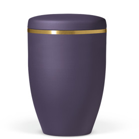 Atlant biourne, lilla velour, med guldkant 27101