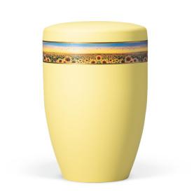 Atlant gul bio urne med solsikker nr. 27660