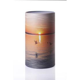 Askestrøningsurne Solnedgang/fugle