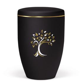 Atlant biourne, Anthrazit velour, med træ og guldkant 27080