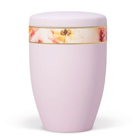 Atlant biourne, lyserød med blomstret dekobånd 27310