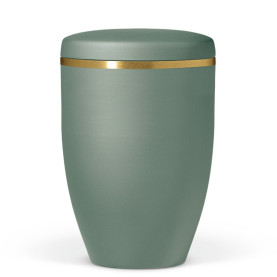 Atlant biourne, olivengrøn velour, med guldkant 27751