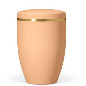 Atlant bio urna, bränd orange, med guldband 27251