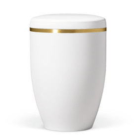 Atlant biourna, vit glans, med guldband 27801