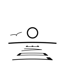 Havet m. Kärlek symbol