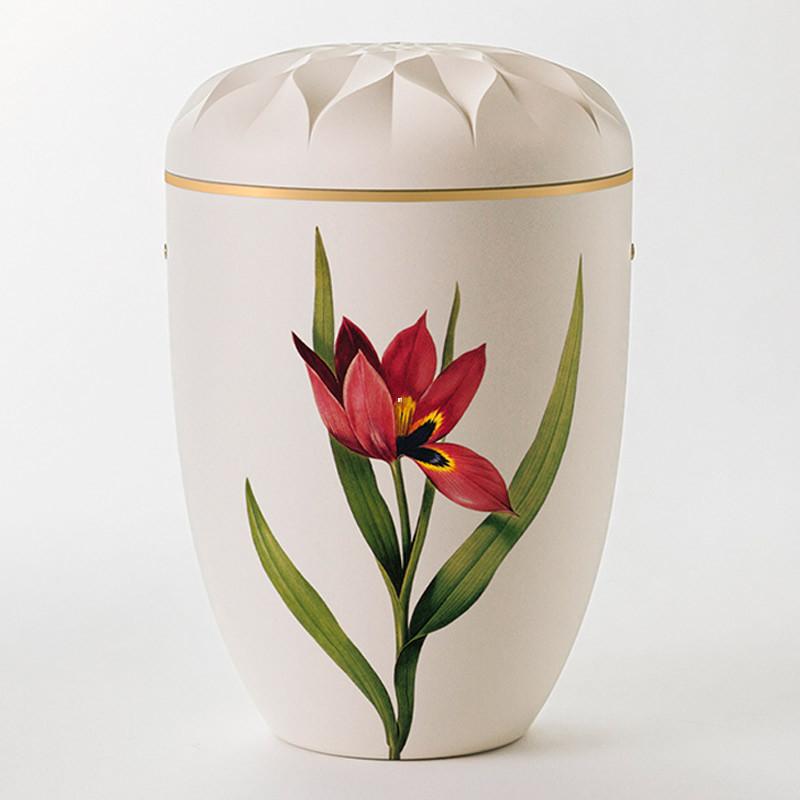 Ydun hvit med tulipan nr. 109