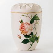 Ydun hvit med rose nr. 107