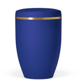 Atlant bio urne, safirblå, med gullbånd 27151