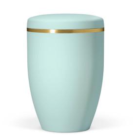 Atlant bio urne, mintgrønn, med gullbånd 27351