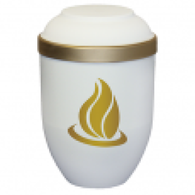 Freja hvid med flamme-motiv nr. 707804