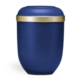 Gefn blå m. guld kant nr. 21336