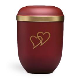 Gefn röd m. guld kant og hjerter nr. 21333-HZ