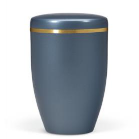 Atlant bio urne, blå perlemor, med gullkant 27451