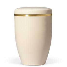 Atlant bio urne, beige, med gullkant 27601