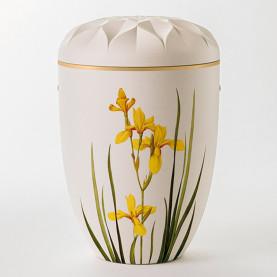 Ydun hvit med gul lilje nr. 106